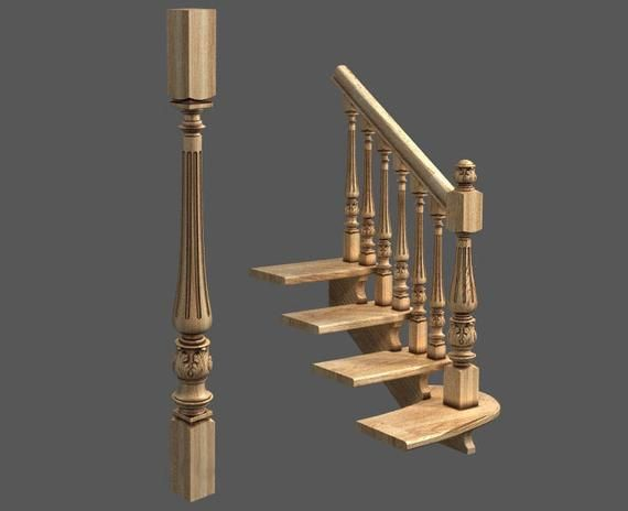 Best Carved Wood Balusters For Staircase Solid Oak Etsy 400 x 300