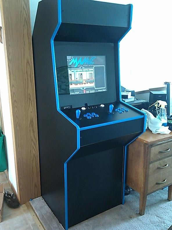 Arcade style 2 player cabinet. Features USB and headphone port at bottom of screen All & News: MAME Arcade cabinet+ | Pinterest | Pc components Arcade and ...