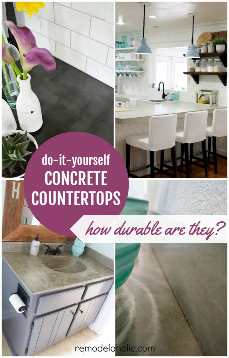 DIY Concrete Countertop Reviews Remodelaholic Diy