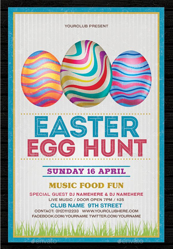 Colorful Easter Flyer Template Easter Flyers Pinterest Flyer