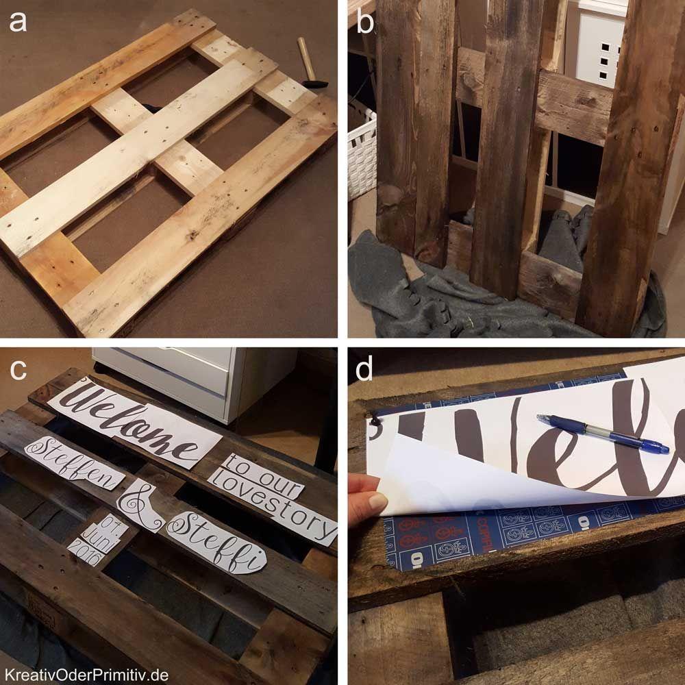 holz palette einwegpalette europalette beschriften bemalen holzschild wegweiser hochzeit diy. Black Bedroom Furniture Sets. Home Design Ideas