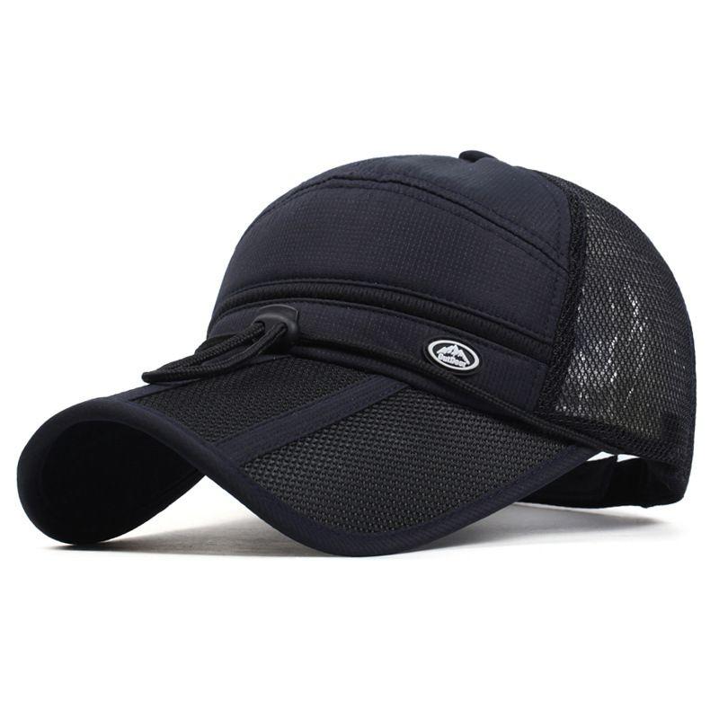 0fcbf3fb973 2017 Quick Dry Unisex baseball caps motorcycle cap golf hat men women Long  visor casual summer
