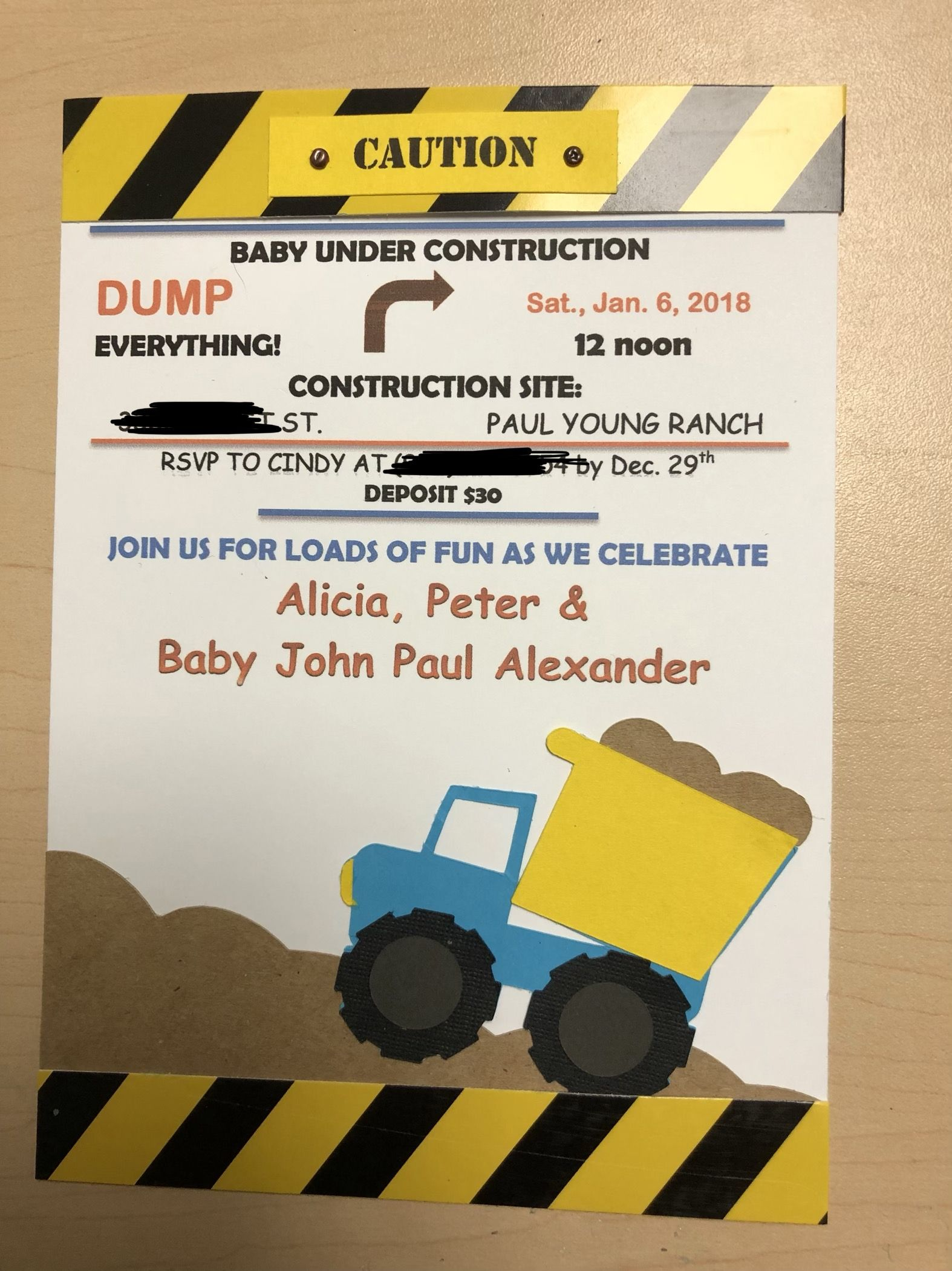 Wedding decorations balloons december 2018 Caution  Under Construction Baby Shower Invitation  baby shower