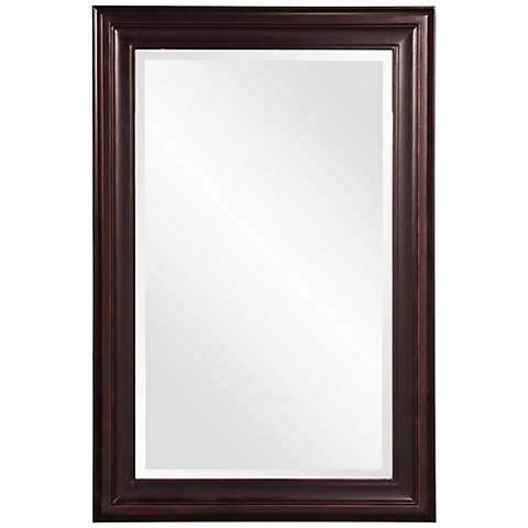 Howard Elliott George Oil Rubbed Bronze 24 X 36 Mirror Rectangular Mirror Framed Mirror Wall Frames On Wall