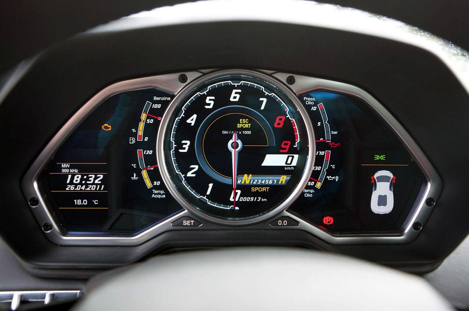 Mileage Meter Of Lamborghini Aventador