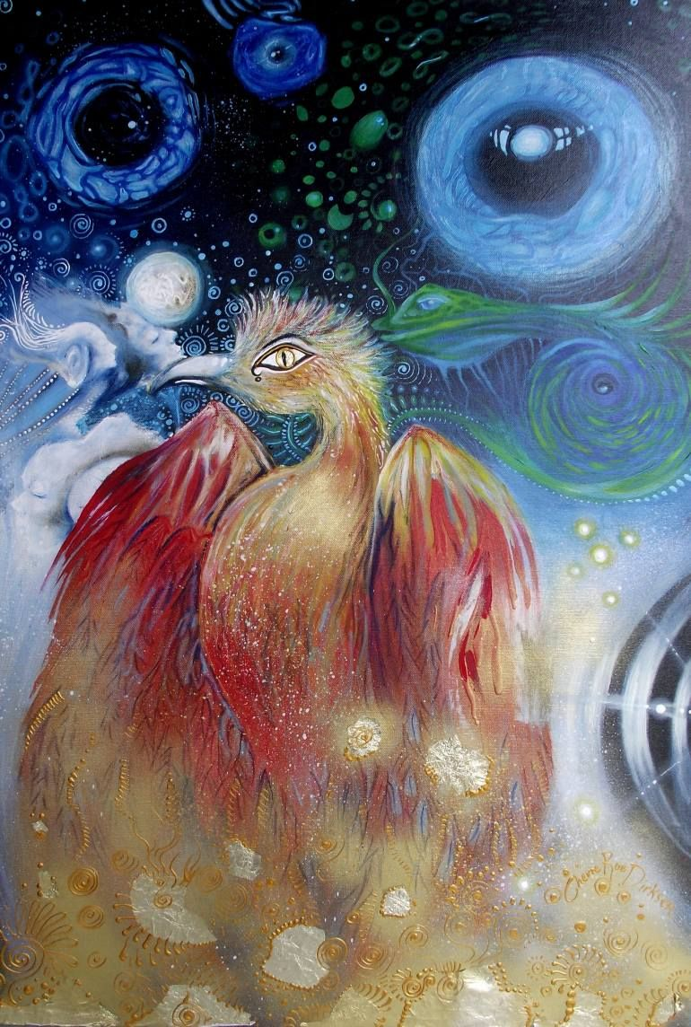 """Saatchi Art Artist Cherie Roe Dirksen; Painting, """"Chaoskampf Demiurge — Rock Art Series (Templeton)"""" #art"""