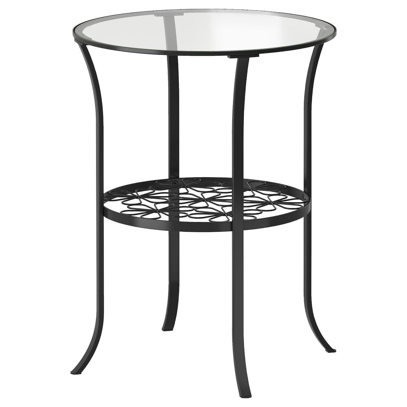 Klingsbo Beistelltisch Schwarz Klarglas 49x62 Cm Ikea Deutschland Ikea Side Table Wood Console Table Ikea Lack Coffee Table [ 1400 x 1400 Pixel ]