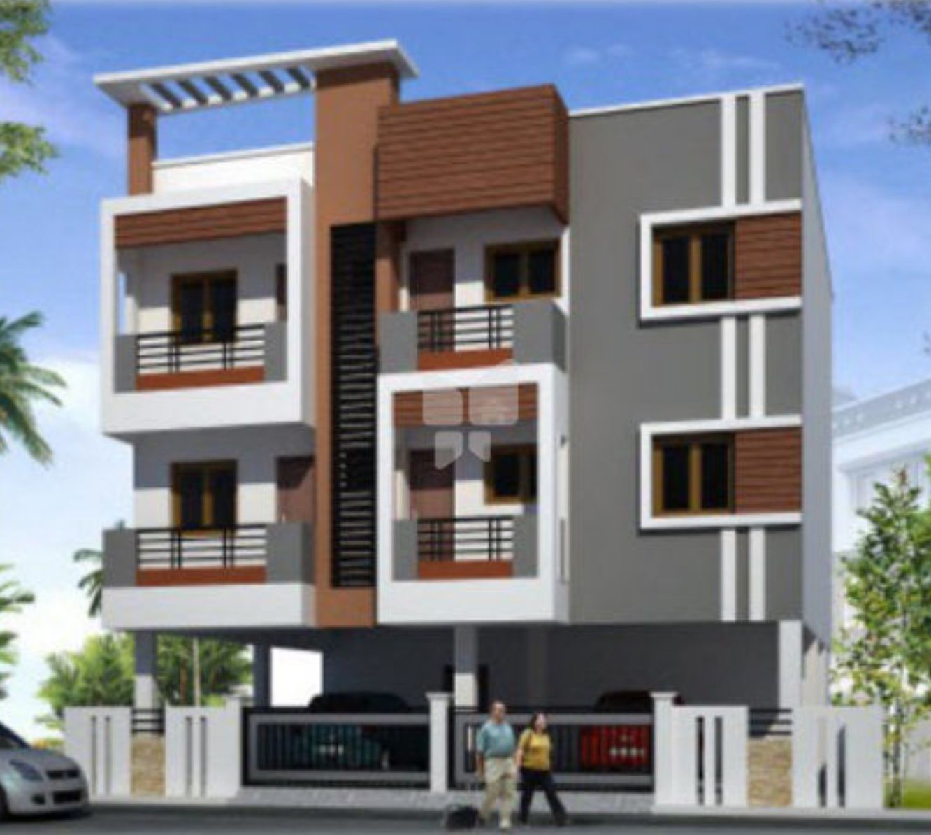Apartment Elevation Designs In Hyderabad