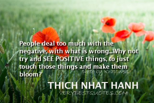 Image result for thich nhat hanh quotes positive thought