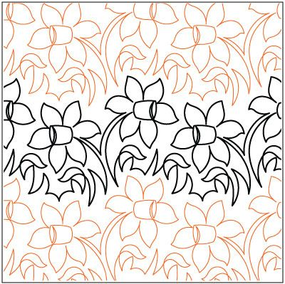 Meadow Flowers quilting pantograph pattern by Lorien Quilting ... : lorien quilting - Adamdwight.com