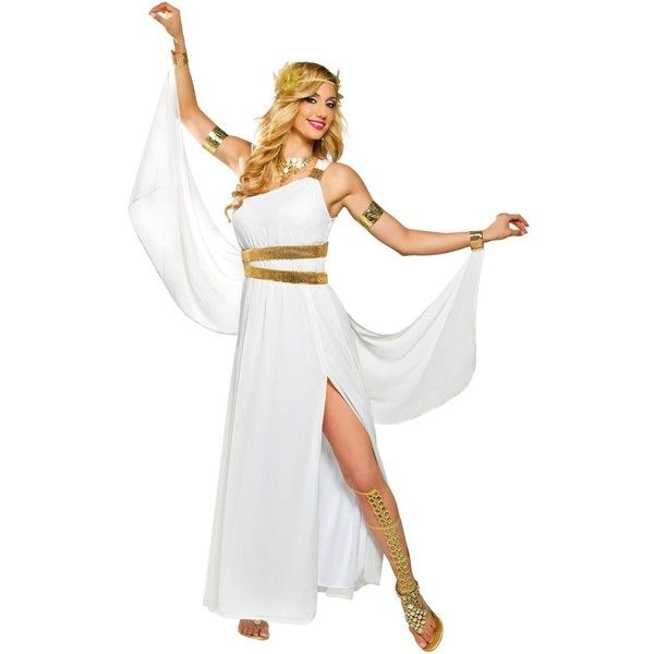 Amazon.com: Goddess Venus Costume - Large - Dress Size 12-14: Adult... ($38) ❤ liked on Polyvore featuring costumes, adult halloween costumes, halloween costumes, adult costume, snow white costume and goddess halloween costumes