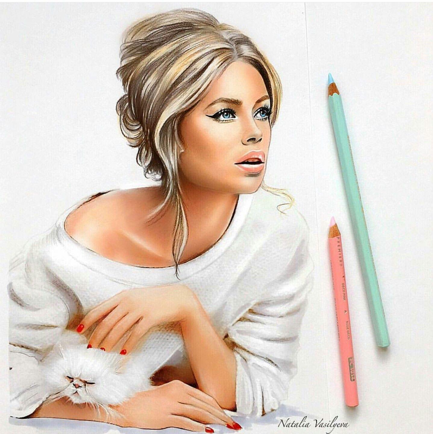 Pingl par lisvet salcie sur fashion ilustration - Jolie fille ado ...