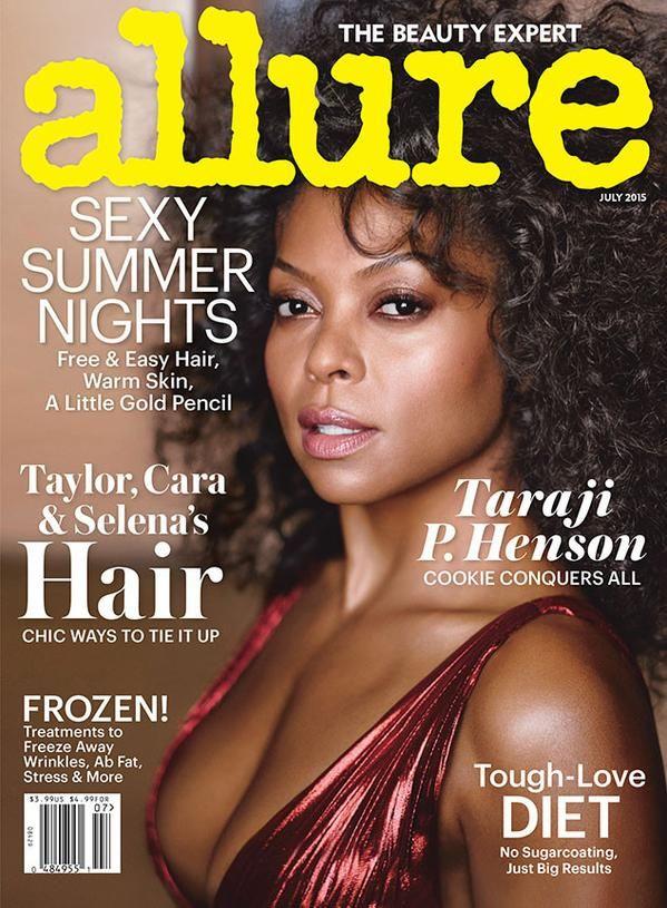 Taraji P. Henson in J. Mendel Pre-Fall 2015 on the July 2015 Cover of Allure Magazine