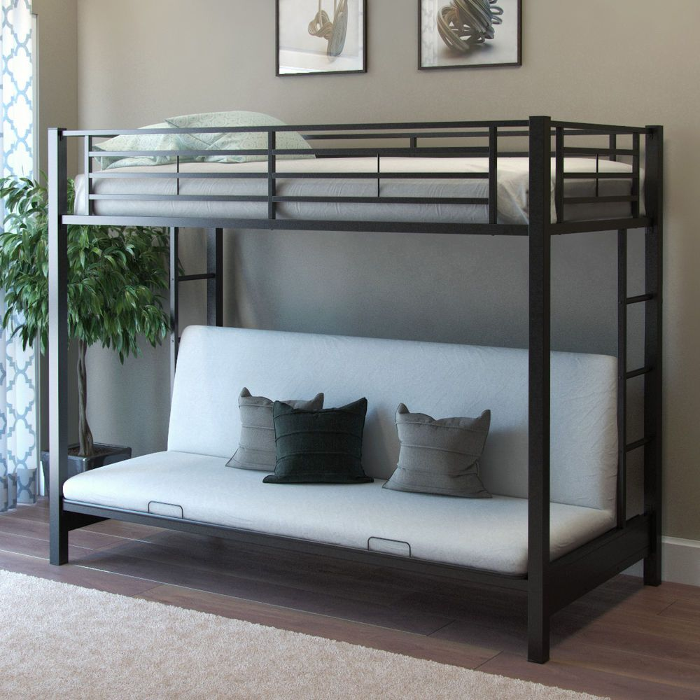 Gibson Living Monty Twin Futon Bunk Bed Bunk Beds With Stairs