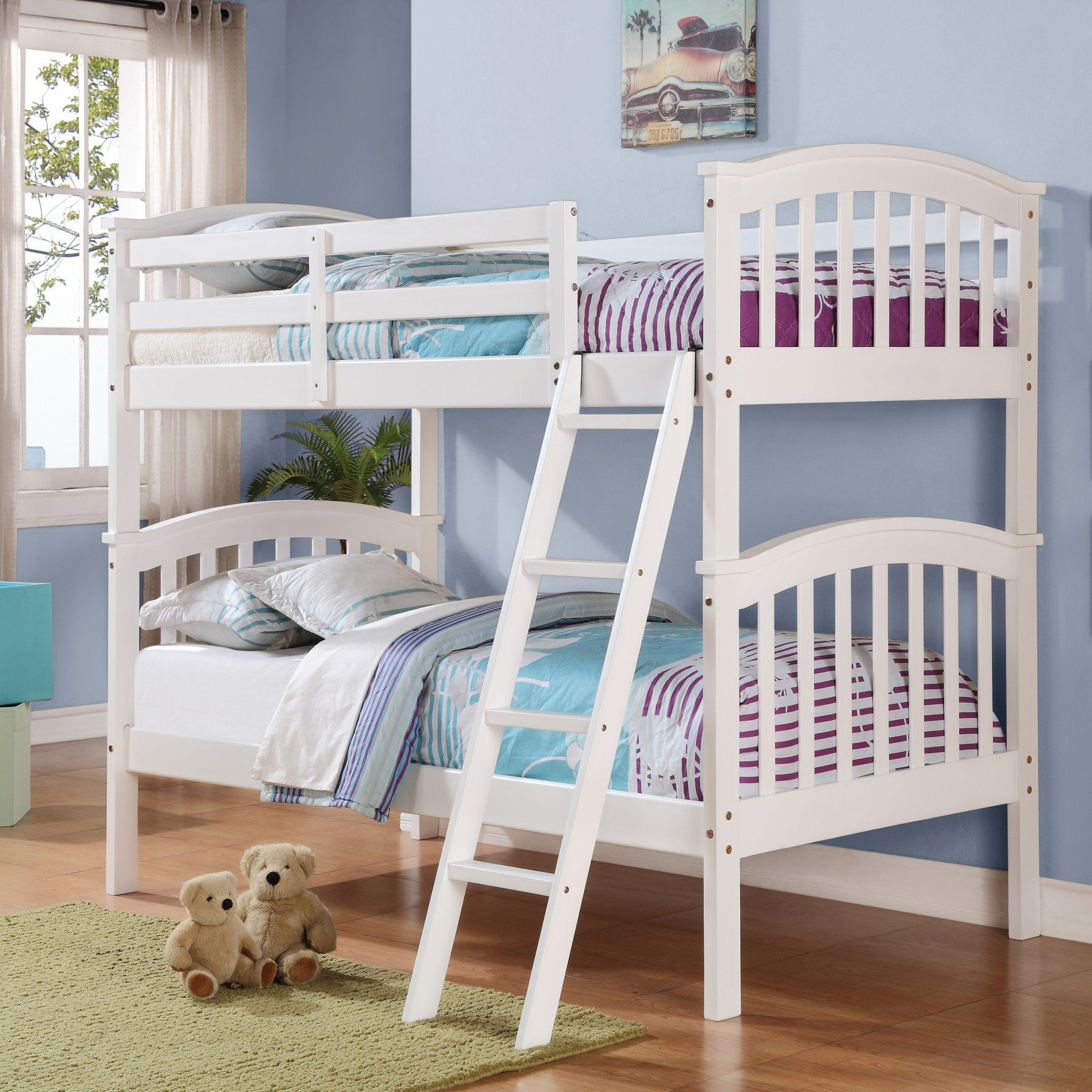 Donco Kids Columbia Twin over Twin Mission Bunk Bed Twin