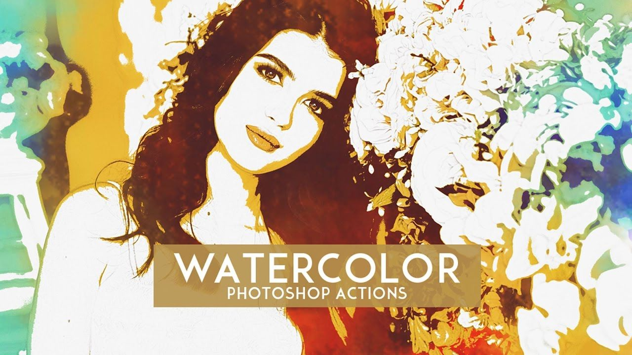 How To Make Watercolor Effect In Photoshop Using Photoshop Action