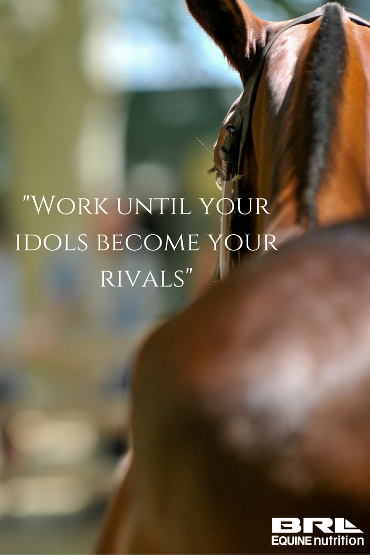 Quot Work Until Your Idols Become Your Rivals Quot Horse Quote