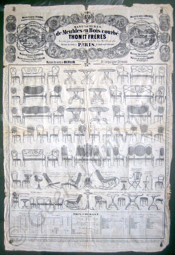 Original Thonet Plakat Paris Ca 1866 1867 Ohne Nachweis Goldene Medaille Paris 1867 Muss Also Vor Die Weltausstelling V Furniture Chair City Photo Photo