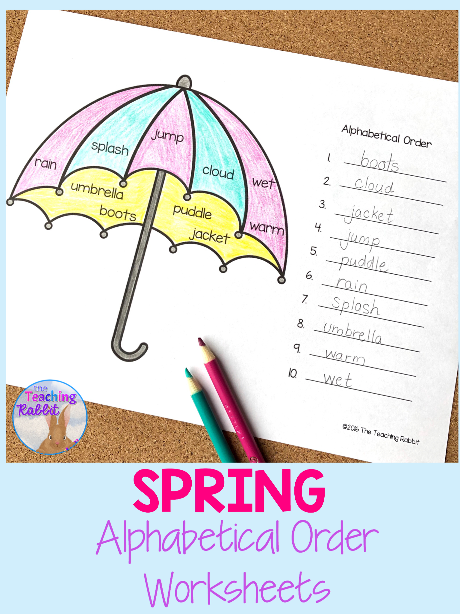 Alphabetical Order Worksheets Spring In