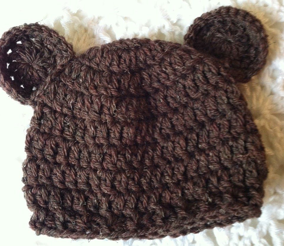 Lakeview Cottage Kids: Mr. and Miss Brownie Bear Crochet Baby Hats ...