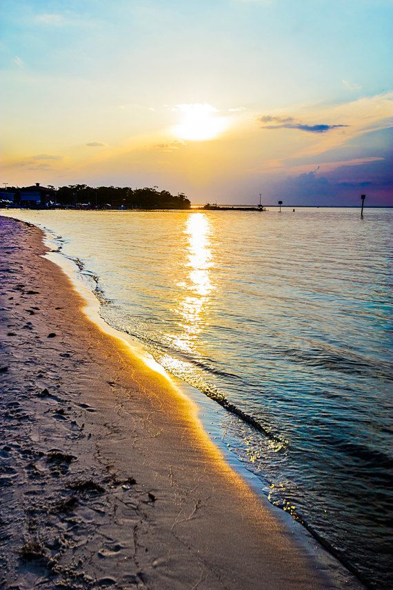 Seaside photography print coastal sunset by photographybyVena, $31.00