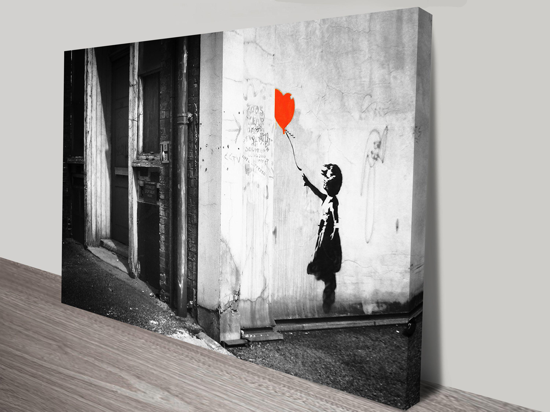 Balloon girl black white banksy canvasprints