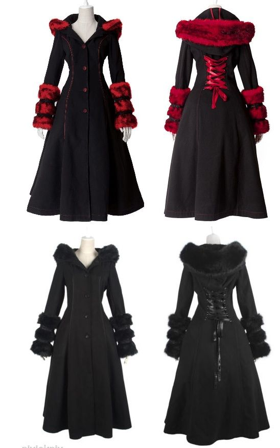 I Want The Red One!!!! Ridding Hood Gothic Coat - Jackets   RebelsMarket