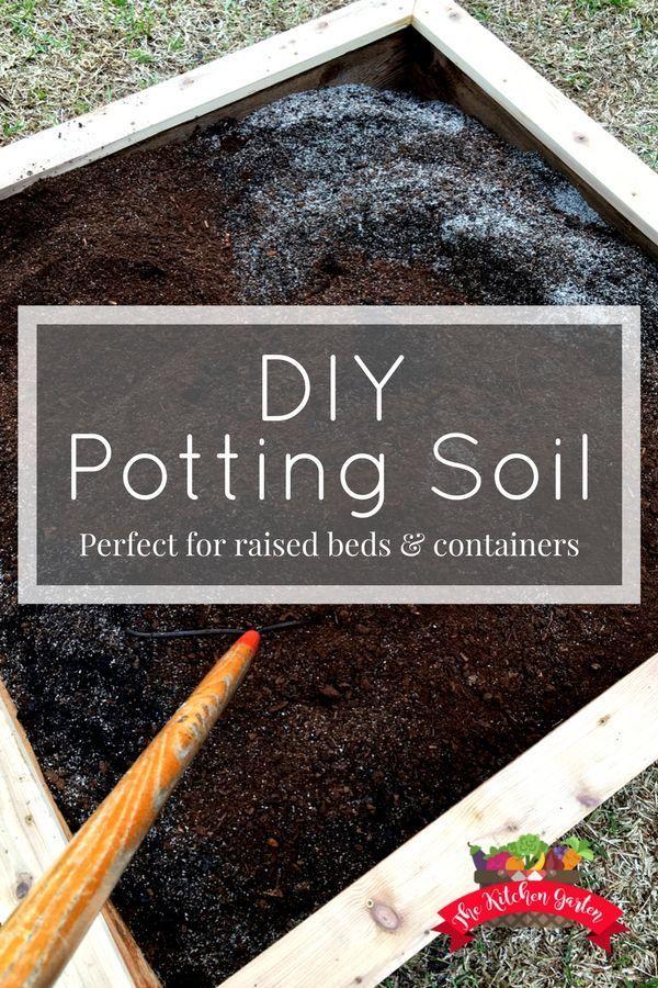 DIY Potting Soil Recipe Organic gardening tips, Potting