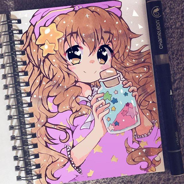 Awesome Anime Art By Kiricheart Using Their Chameleon Pens Chameleonpens Pen Marker Alcoholmarkers Markerpen Colour Colo Anime Art Awesome Anime Anime