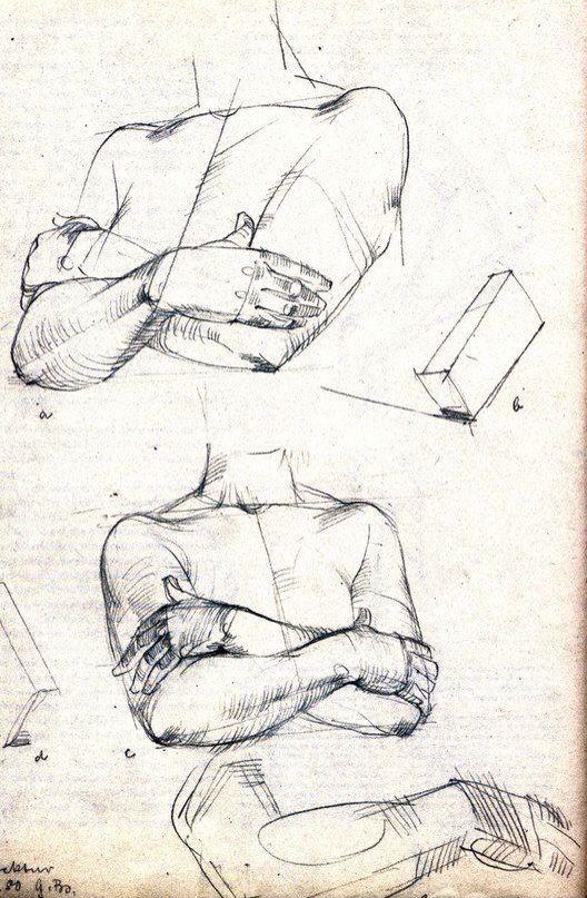 Готфрид Баммес. Рисование рук