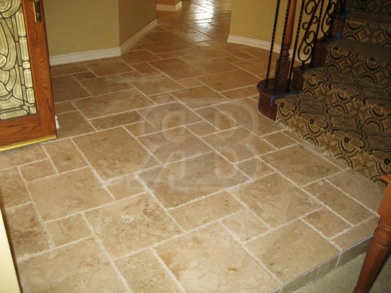 Travertine Versailles Pattern/French Pattern Layout and Installation
