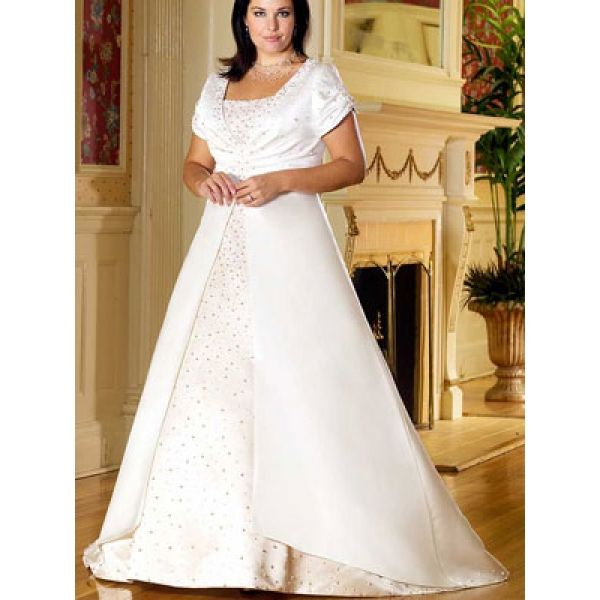 Plus Size Empire Waist Wedding Dresses With Sleeves Empire waist c ...