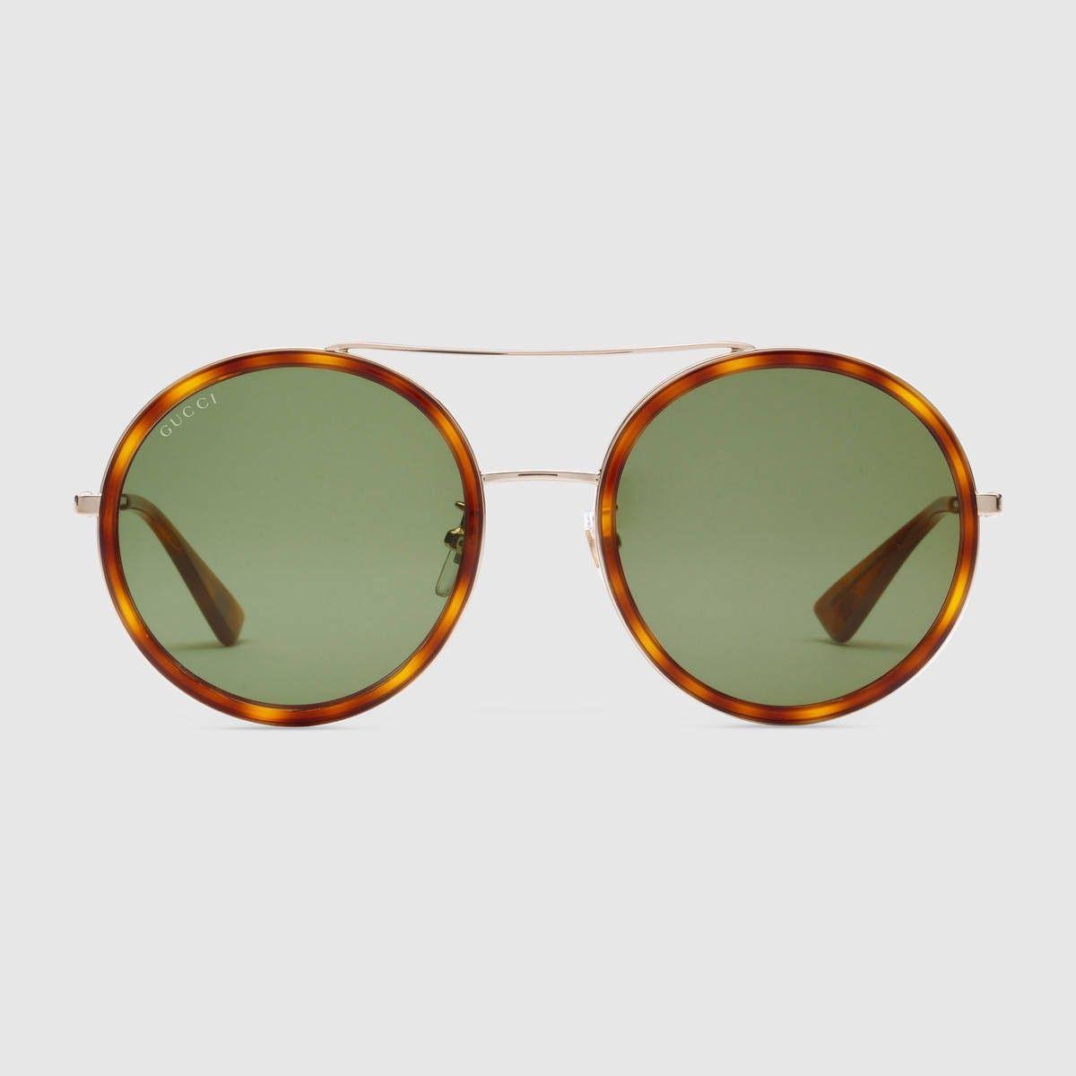 Lunettes De Femmes · GUCCI Round-Frame Sunglasses - Gold Metal Light  Tortoiseshell.  gucci  all 701822947afd