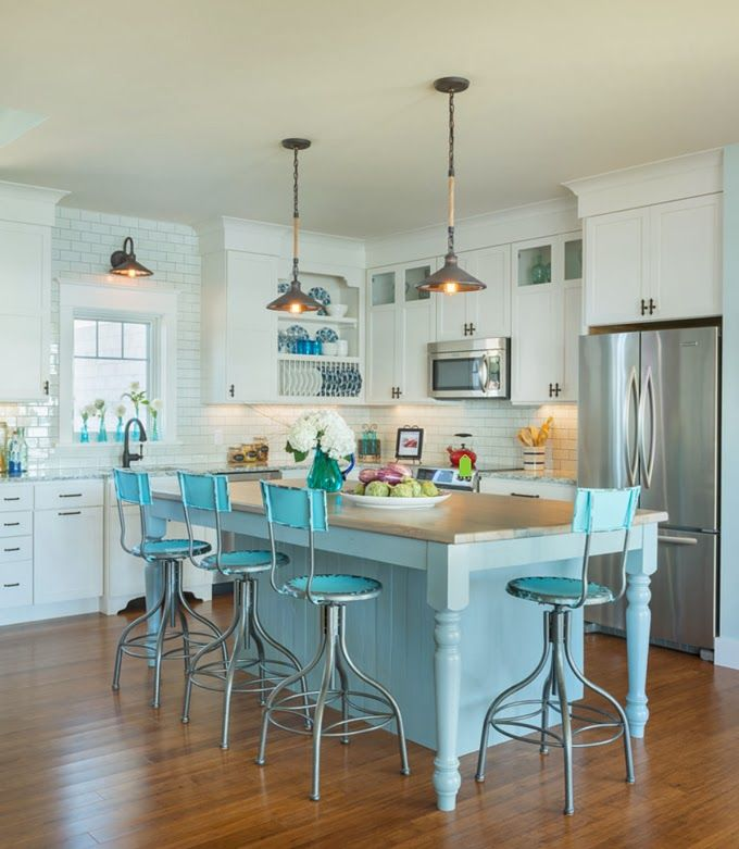 Caldwell and johnson turquoise house and kitchens for Caldwell kitchen cabinets