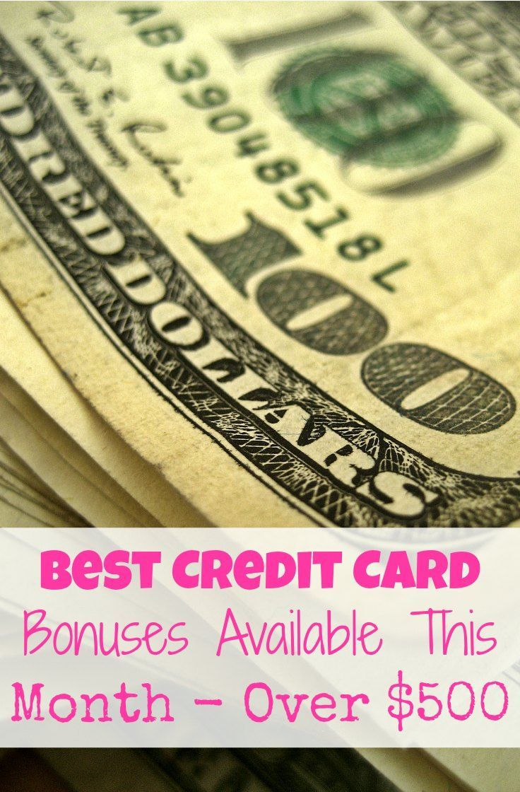 Best credit card sign up bonuses this month credit card sign