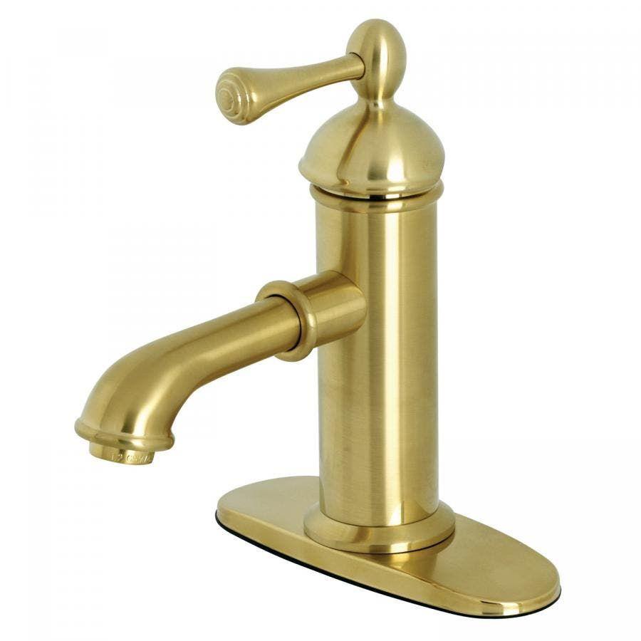 Kingston Brass Ks7417bl Paris Single Lever Handle Bathroom Faucet Brushed Brass Kingston Brass Single Hole Bathroom Faucet Kingston Brass Bathroom Faucets