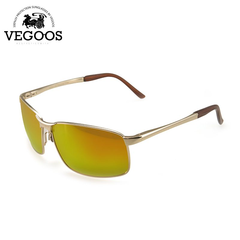 VEGOOS Real Polarized Sunglasses Men Coating Mirror Driving Sun Glasses oculos Male Eyewear #3089