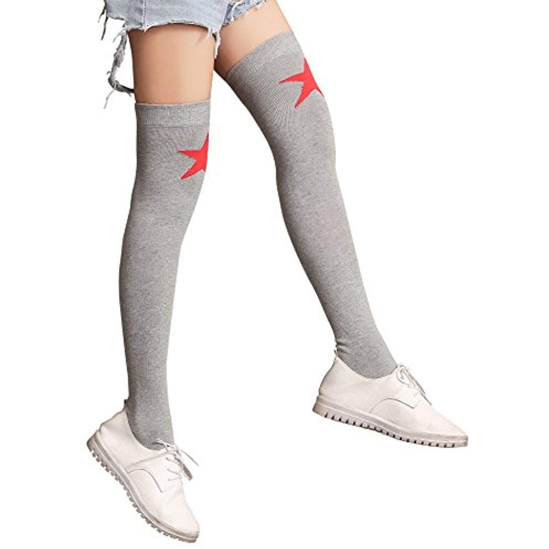 75c8760a4 Women Ladies  Cotton Over Knee Socks