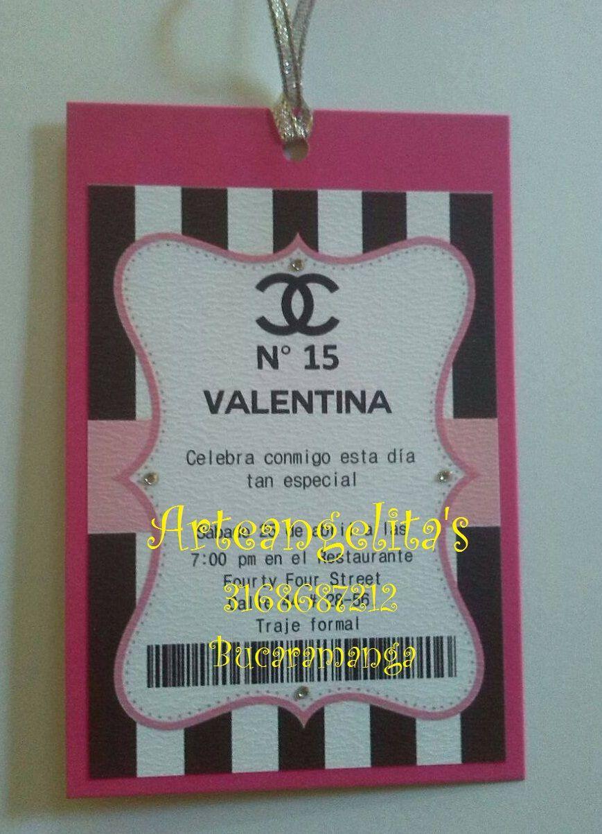 Invitaciones Chanel Decoracion Restaurantes Y Valentina