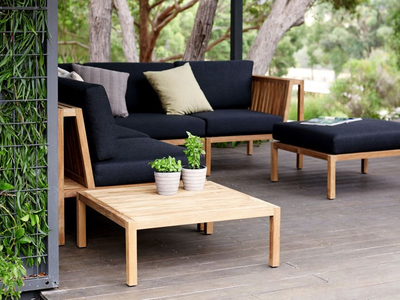 Small Outdoor Setting Part - 49: A Striking Outdoor Setting, The Modular Watego Outdoor Lounge Is Ideal For  Any Space, From Large Sweeping Gardens Through To Small, Inner-city  Courtyards.