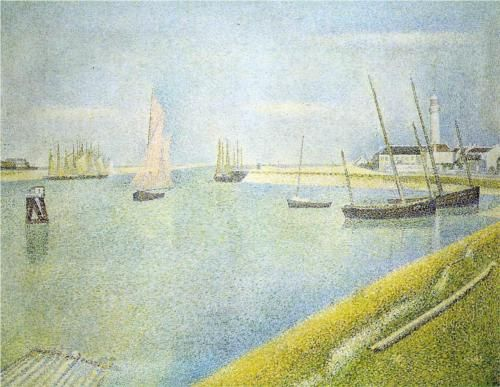 The Channel at Gravelines, in the Direction of the Sea - Georges Seurat, 1890