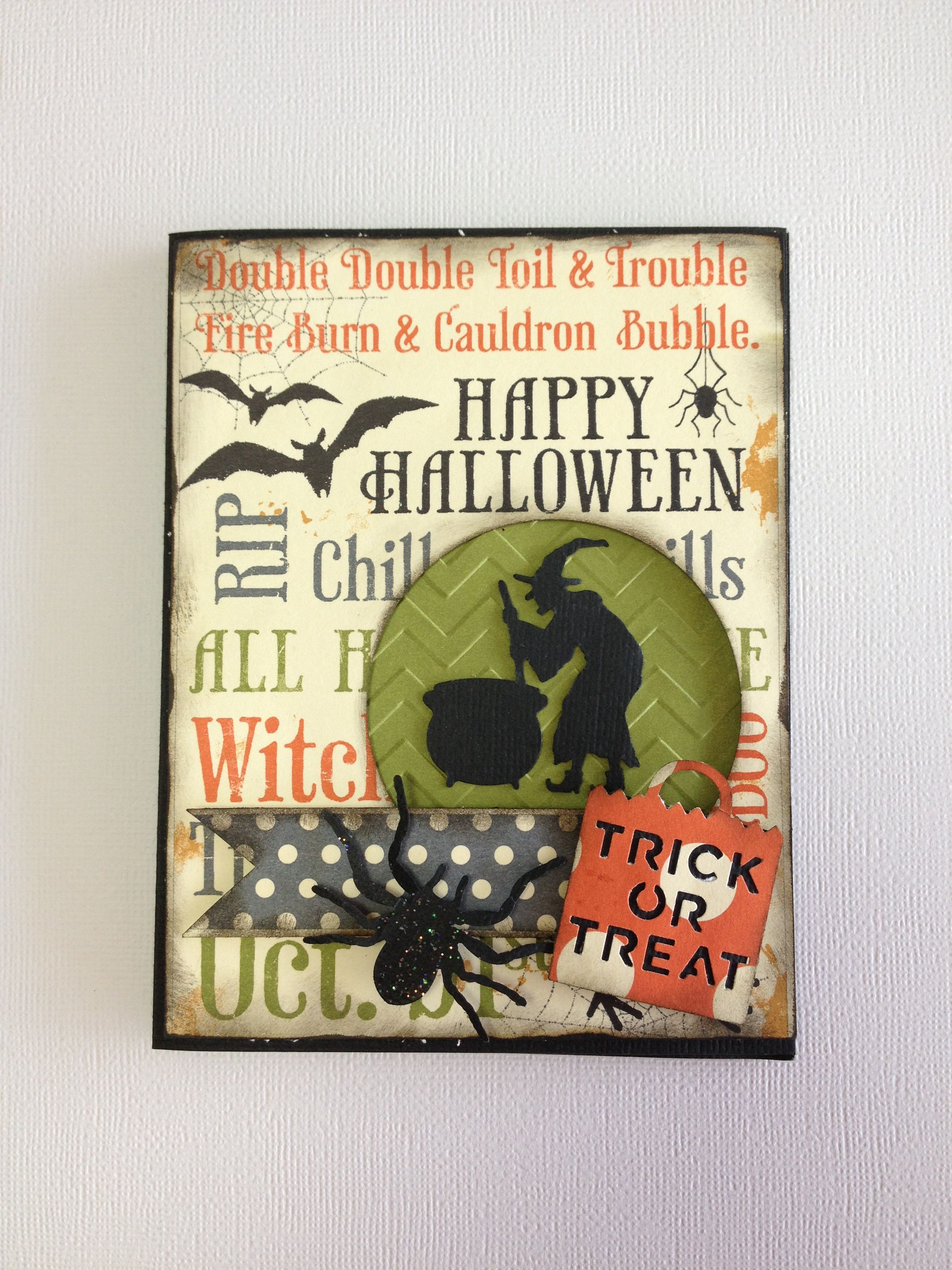 Handmade Halloween Witch Card by Rose Marie Jusino