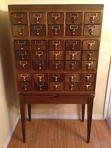 Gaylord Bros Library Card Catalog Apothecary Antique Vintage Cabinet