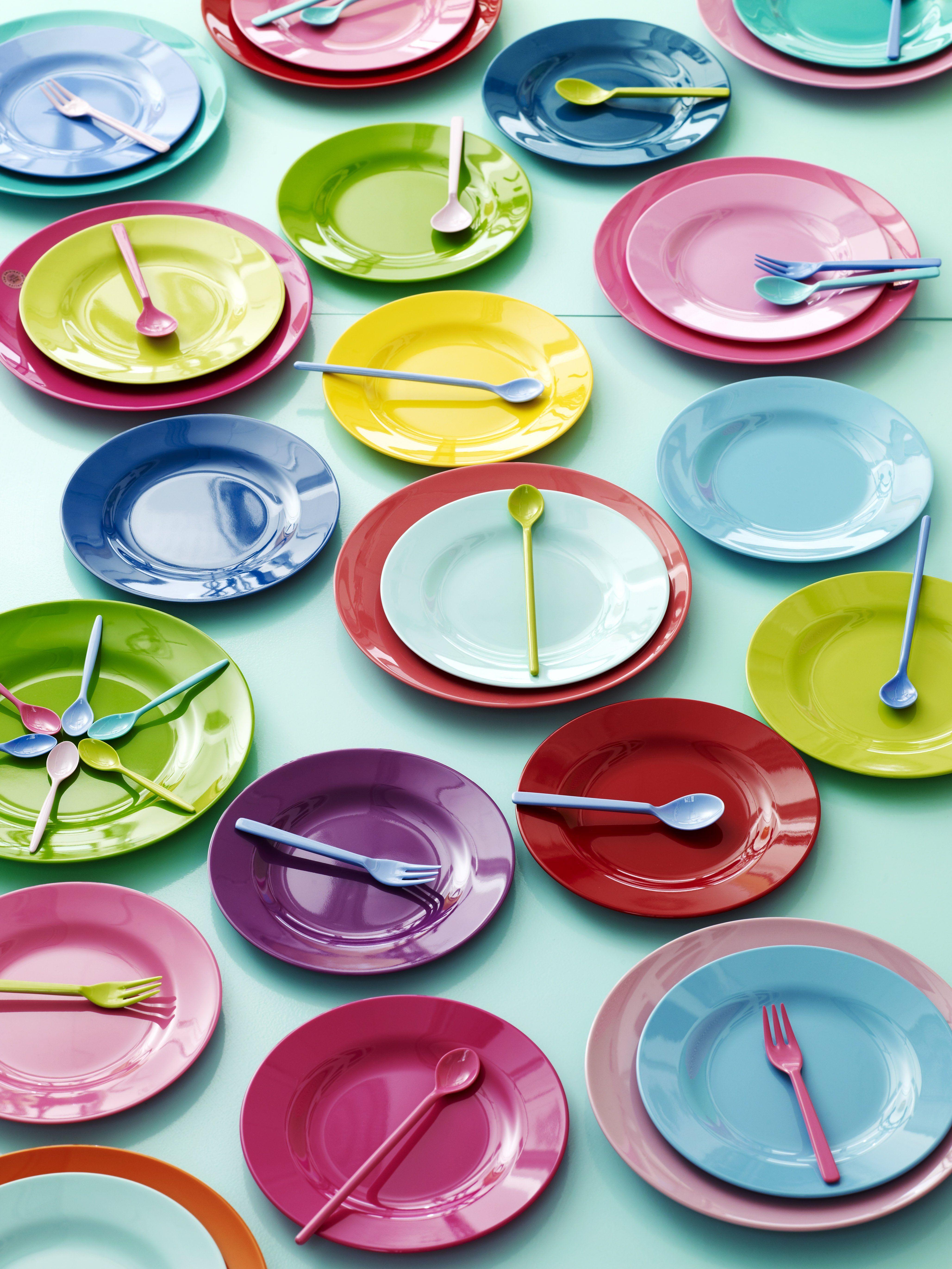 Melamine Plates from RICE vrolijke kleurrijke tafel kinderen kids colorful table  sc 1 st  Pinterest & Rice DK Melamine Side Assorted Plates | Rice Tablewares and Kitchens