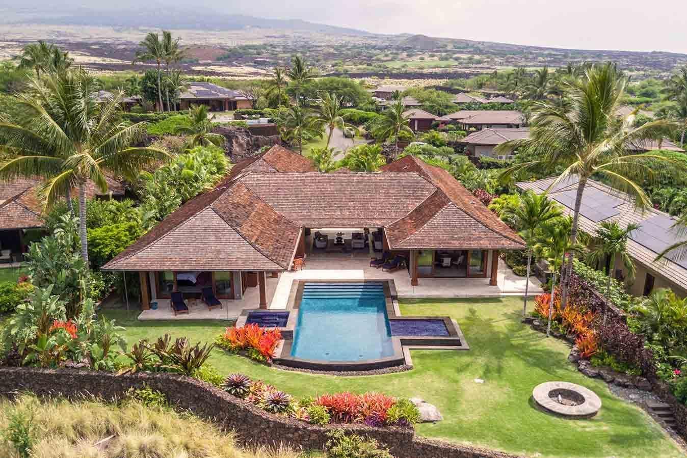 5 Bedroom Luxury Vacation Home for Rent Hualalai, Kona