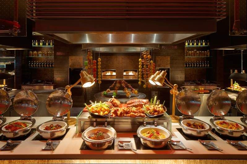 Grill Station Asian Restaurants Brunch Dubai Buffet Stations