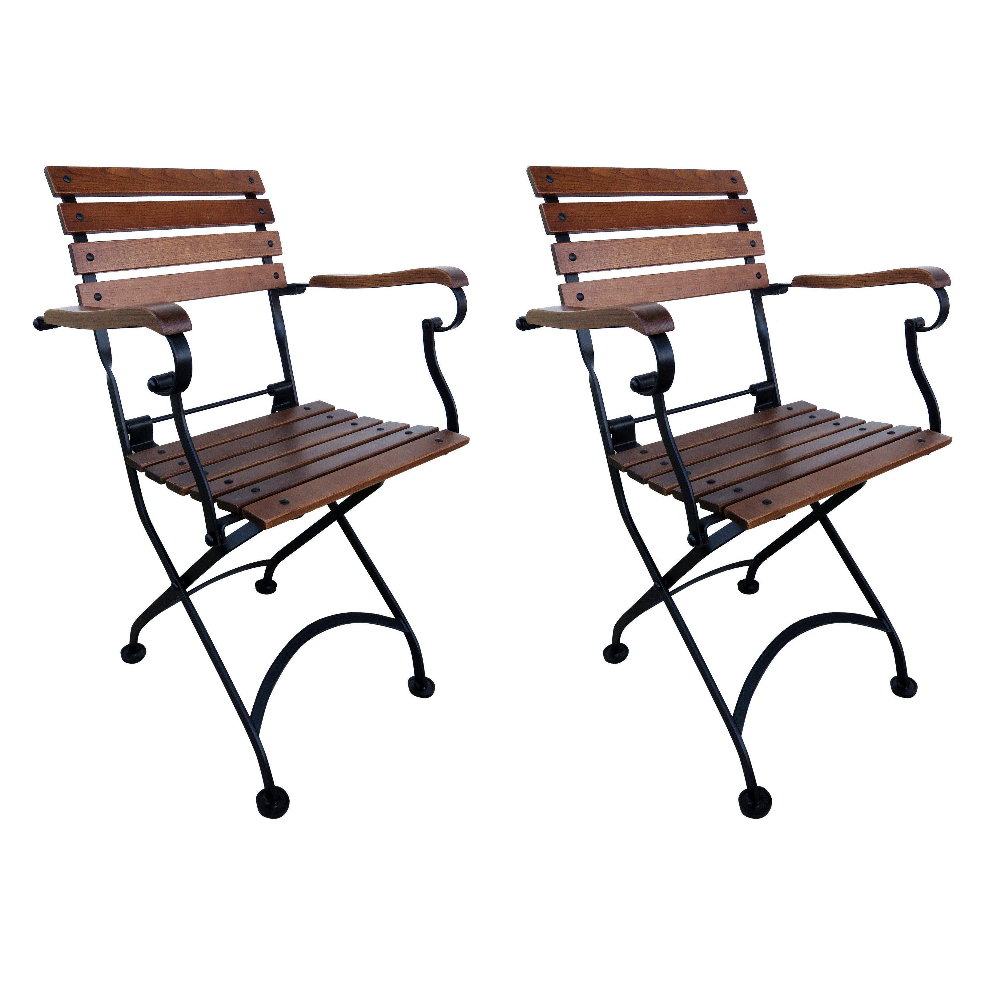 Outdoor Furniture Designhouse French Cafe Bistro Chestnut Wood