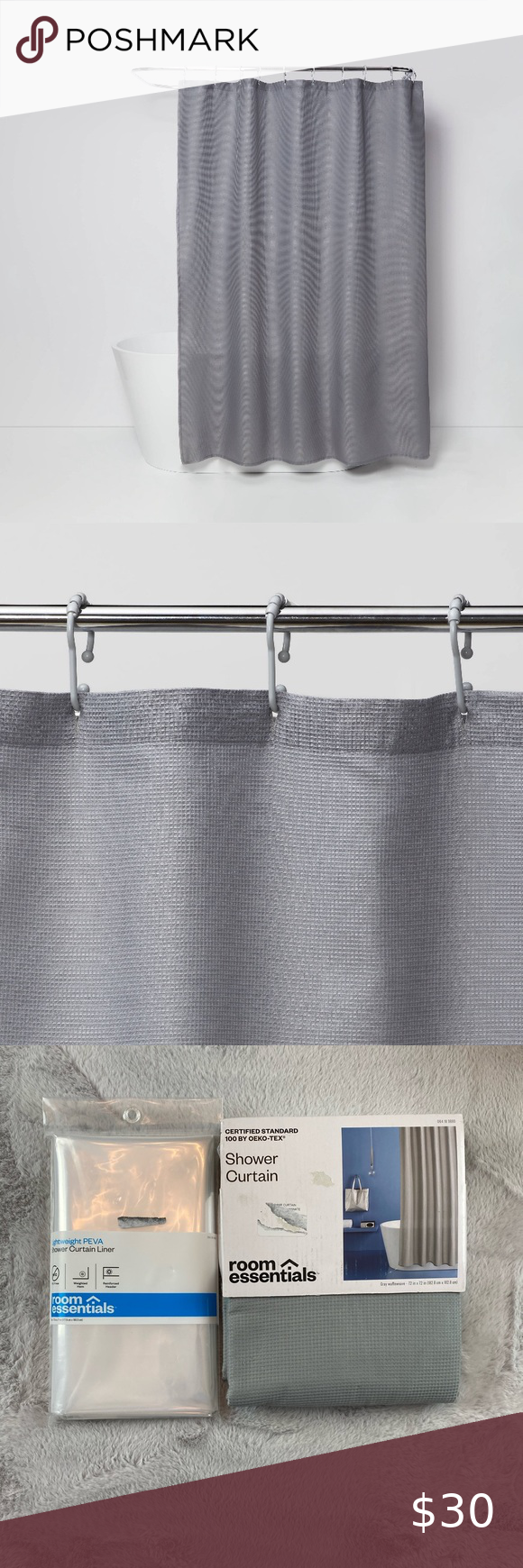 New Target Gray Shower Curtain Liner Gray Shower Curtains Fabric Shower Curtains Room Essentials