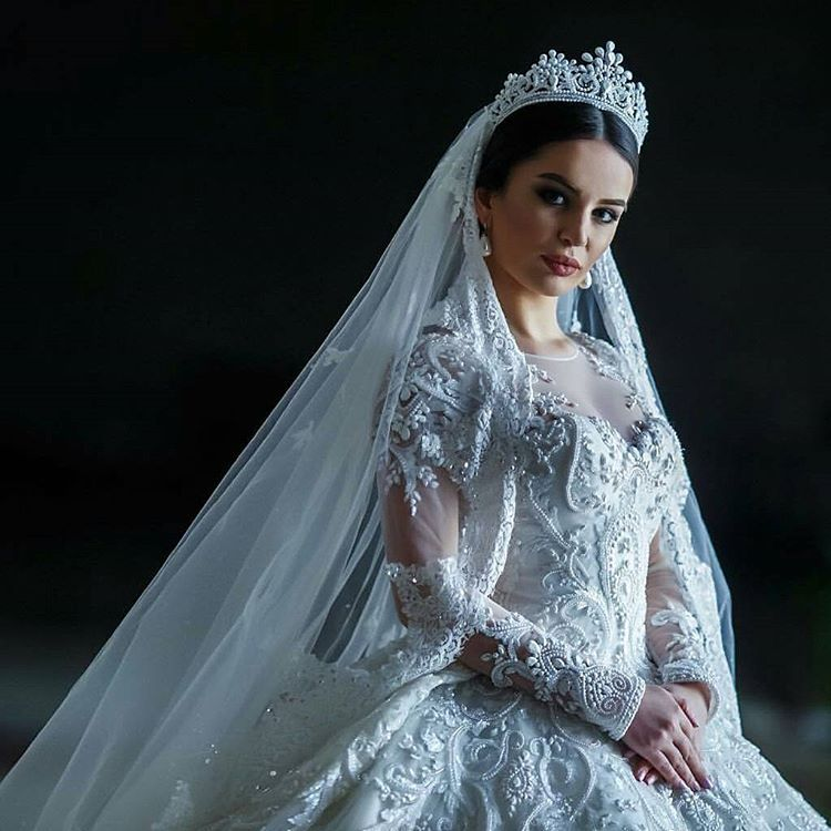 Persian white wedding dress.