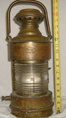Antique Perko Brass Ship Lamp Nautical Maritime Boat Lantern Globe Rare Old Lanterns